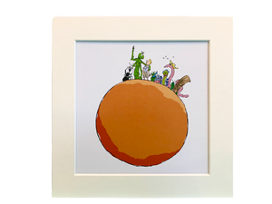 Print: Roald Dahl - James and the Giant Peach - Whole Peach (Mounted)