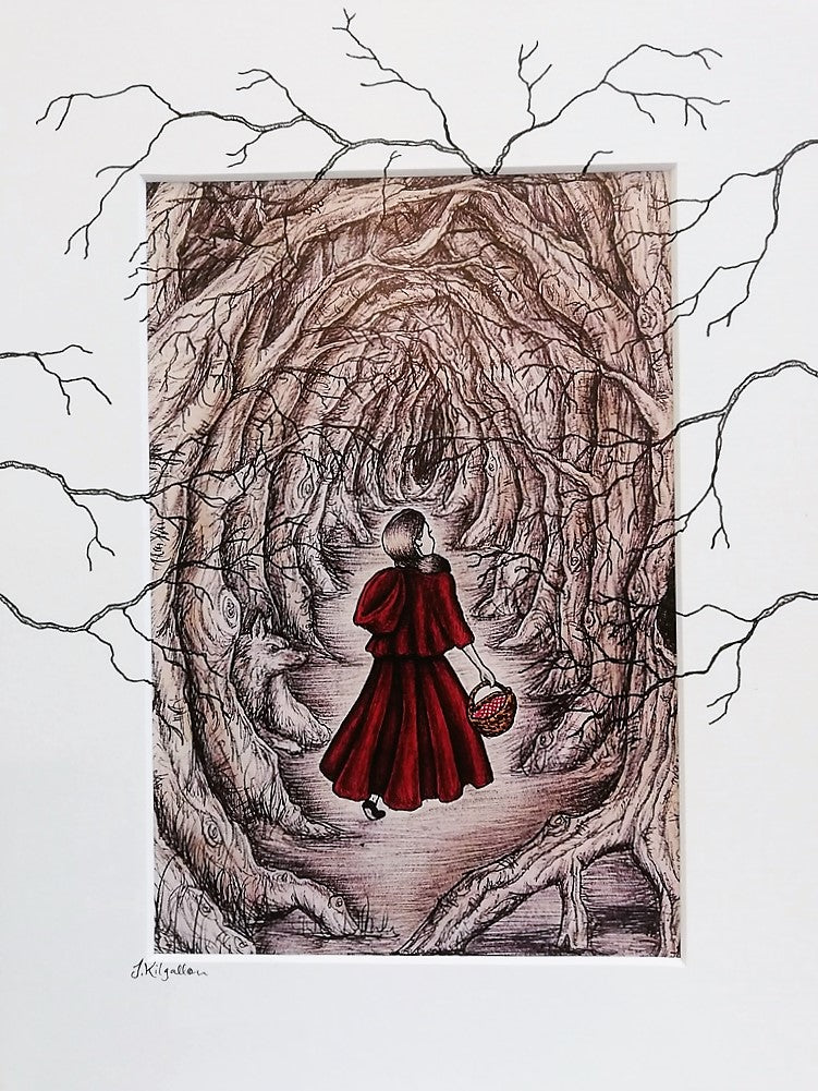 4839d64c2 Print: Jenni Kilgallon - Little Red Riding Hood, Lost in the Woods ...
