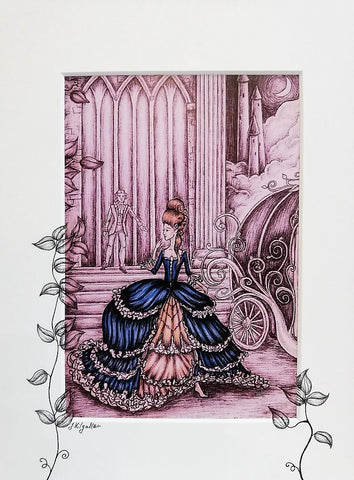 Print: Jenni Kilgallon - Cinderella Leaving the Ball (with colour)
