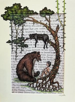 The Jungle Book Print by Jenni Kilgallon