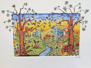 Enchanted Woodland Print by Jenni Kilgallon