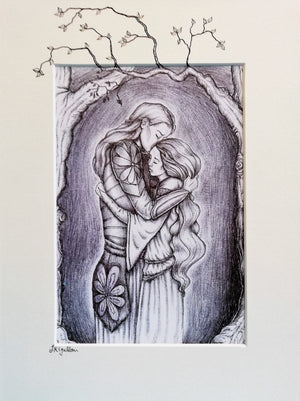 Farewell Embrace Print by Jenni Kilgallon