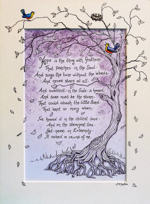 Hope is the Thing with Feathers Print by Jenni Kilgallon