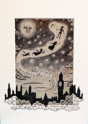 Peter Pan Print by Jenni Kilgallon