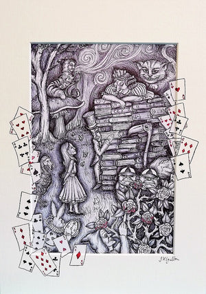 Alice in Wonderland Print by Jenni Kilgallon