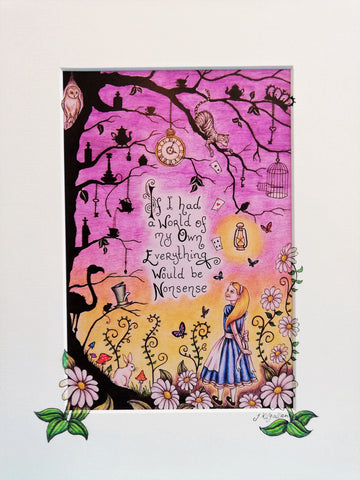 Print: Jenni Kilgallon - Alice in Wonderland, A World of Nonsense.