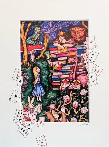 Print: Jenni Kilgallon - Alice in Wonderland, the Queen's Trial (Colour)