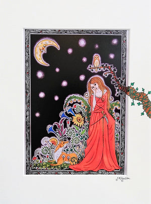 By the Light of the Mystic Moon Print by Jenni Kilgallon