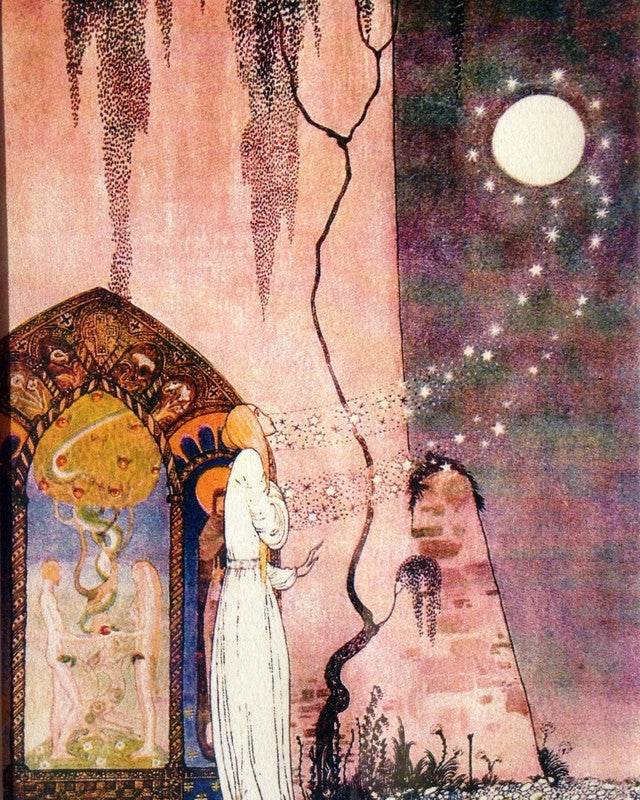 Kay Nielsen Print: Lassie and her Godmother from East of the Sun and West of the Moon