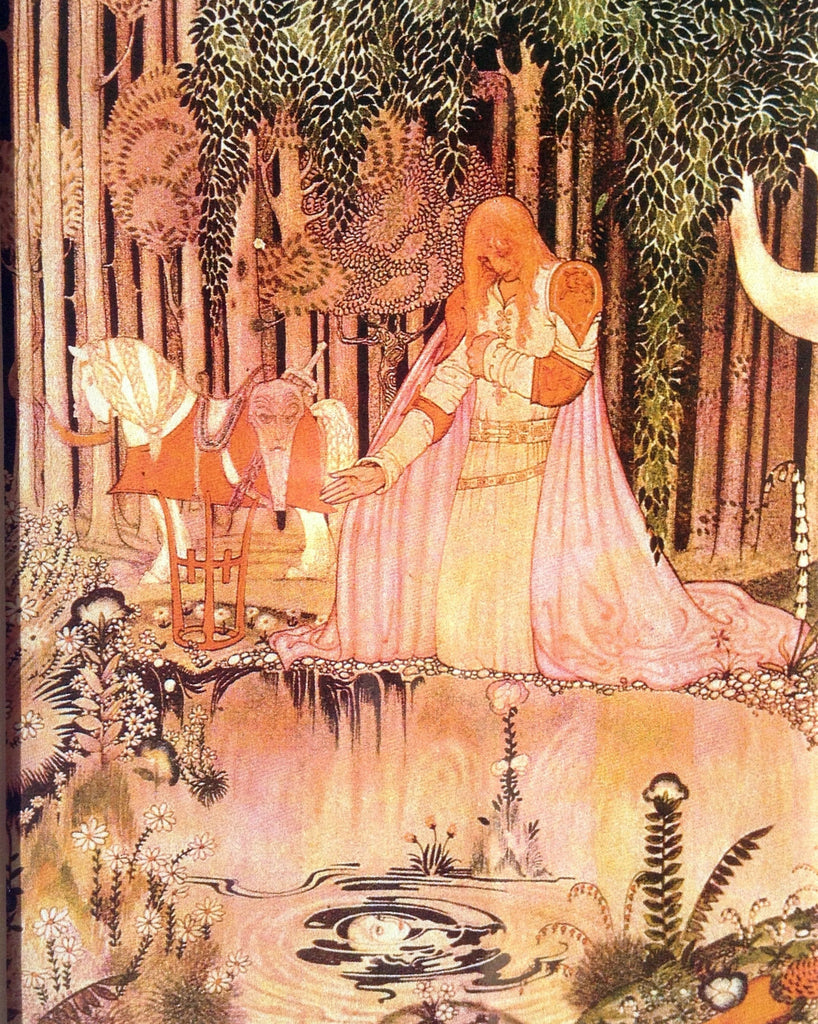 Kay Nielsen Print: The Lassie and her Godmother from East of the Sun and West of the Moon