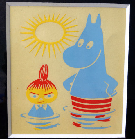 Limited Edition 1956 Moomin Print: Little My and Moomintroll