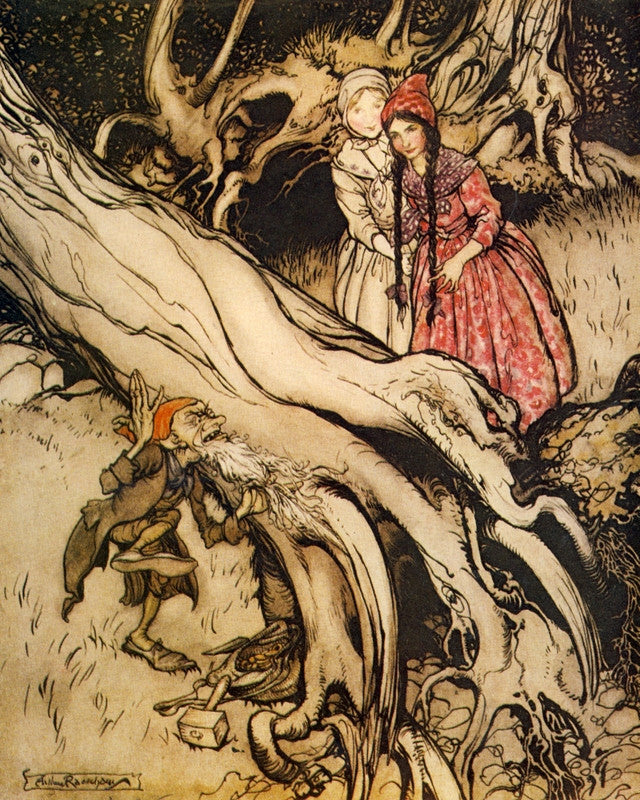 Arthur Rackham Print Snow White and Rose Red