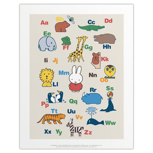 Miffy Alphabet Print by Dick Bruna