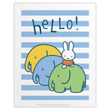 Miffy says Hello Print by Dick Bruna