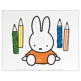 Miffy with Colouring Pencils Print by Dick Bruna