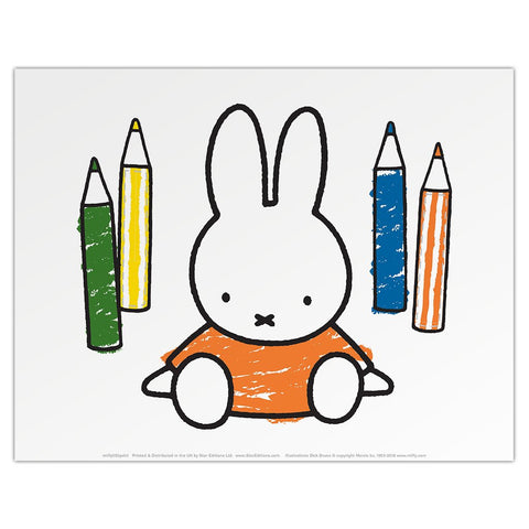 Print: Miffy with Colouring Pencils
