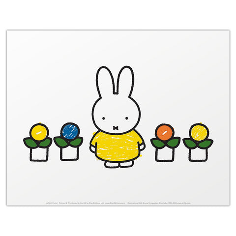 Print: Miffy with Flowers
