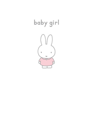 Greeting Card: Miffy - Baby Girl