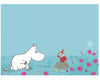 Moomin print with moomintroll and little my