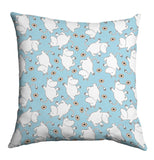 Cushion: Moomins with Flowers (Baby Blue)