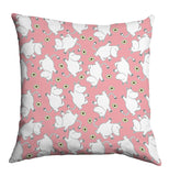 Cushion: Moomins with Flowers (Baby Pink)