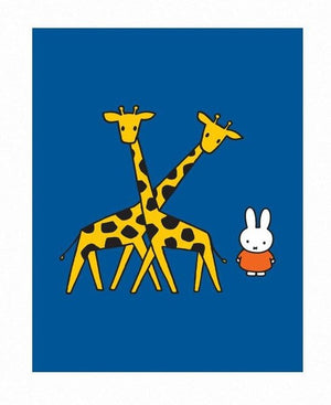 Miffy with Giraffes Print by Dick Bruna