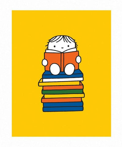Print: Miffy, Reading