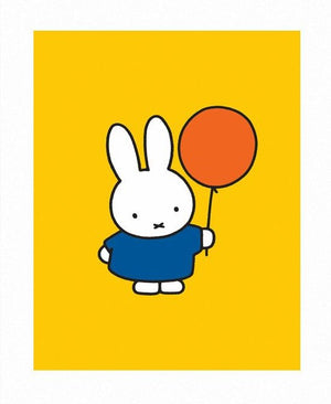 Miffy with Balloon Print by Dick Bruna
