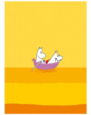 Print: Moomins - Moomintroll and Snorkmaiden on a boat