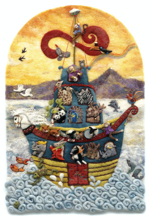 Noah's Celtic Cruise Print by Suzie Sullivan, Derryaun Crafts