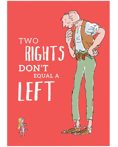Print: Roald Dahl - The BFG, Two Rights