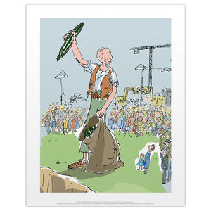 BFG and the Snozzcumber Print by Quentin Blake