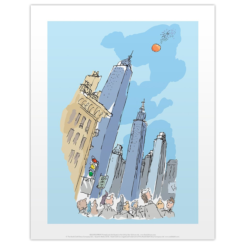 Print: Roald Dahl - James and the Giant Peach, Empire State Building