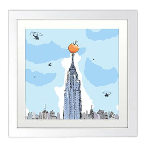 Print: Roald Dahl - James and the Giant Peach (Mounted)