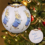 Peter rabbit Baby's First Christmas Bauble