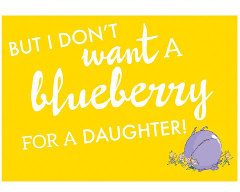 Print: Roald Dahl - Charlie and the Chocolate Factory, Blueberry
