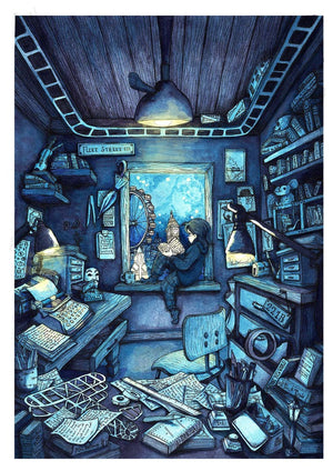 Tales Beneath the Stars Print by Shannon Bergin -