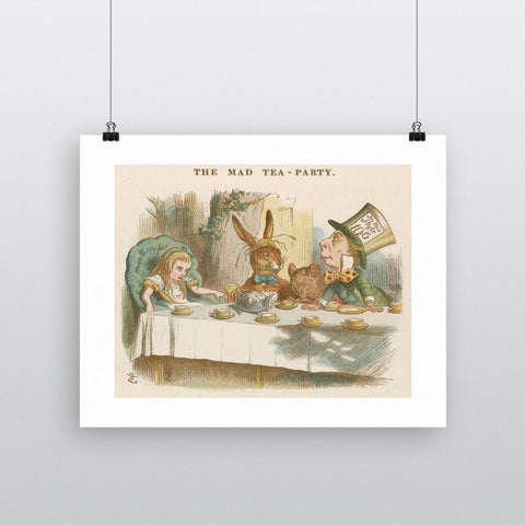 Print: Alice in Wonderland (Mad Hatter's Tea Party, Tenniel)