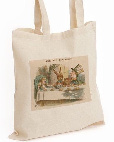 Tote Bag: John Tenniel - Alice in Wonderland, The Mad Tea-Party