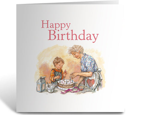 Greeting Card: Alfie, Happy Birthday (Cake)