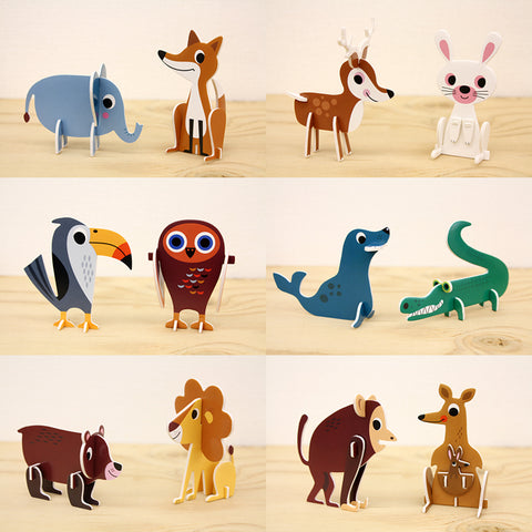 Ingela P. Arrhenius: Animal Parade 3D Puzzle