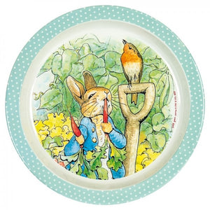 Baby Plate: Peter Rabbit (Peter eating radishes and robin)