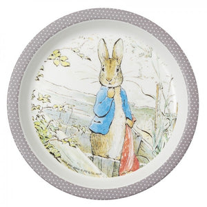 Baby Plate: Peter Rabbit (Taupe Rim)