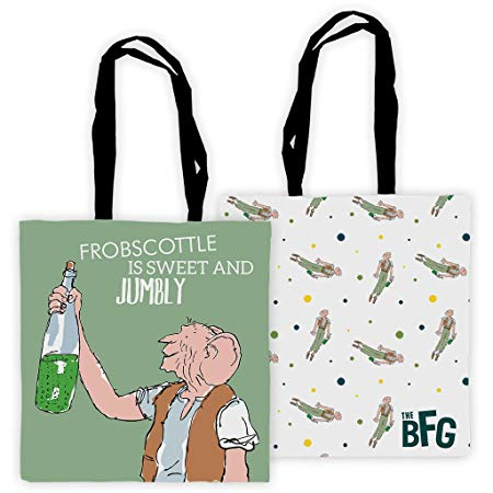 Tote Bag: Roald Dahl - The BFG (Frobscottle is sweet and jumbly)
