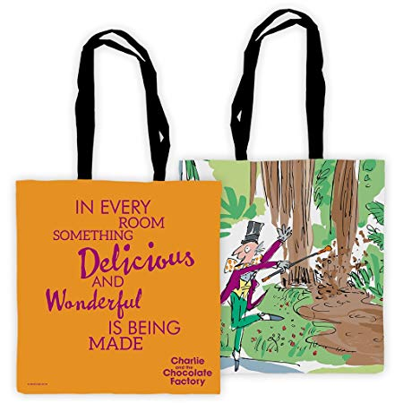 Tote Bag: Roald Dahl - Charlie and the Chocolate Factory (Something Delicious and Wonderful)