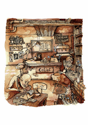 Coffee Shop Soundtrack Print by Shannon Bergin