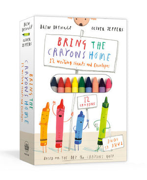 Bring the Crayons Home Stationery set