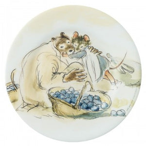 Melamine Dessert Plate: Ernest and Celestine (Garden Blueberries)
