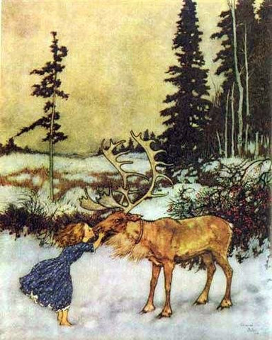 Print: Edmund Dulac - from The Snow Queen