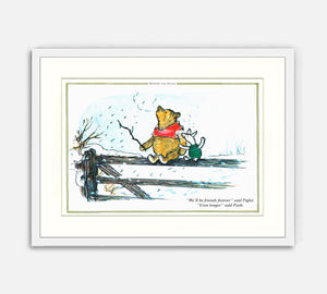 Print: Winnie the Pooh, Friends Forever